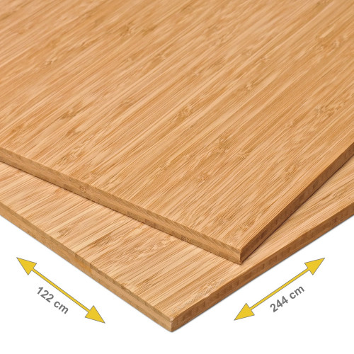 Bamboe plaat 10 mm side pressed 3-laags caramel 244 x 122 cm