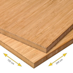Bamboe plaat 20 mm side pressed 3-laags caramel 244 x 122 cm