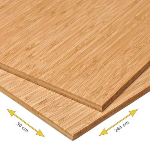 Bamboe plank 10 mm side pressed 3-laags caramel 244 x 30 cm