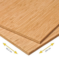 Bamboe plaat 10 mm side pressed 3-laags caramel 244 x 60,5 cm