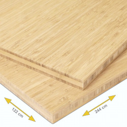 Bamboe Plaat 3-Laags Naturel Verticaal Geperst 2440 x 1220 x 20 mm