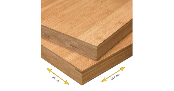 Bamboe plank mm plain pressed laags caramel cm