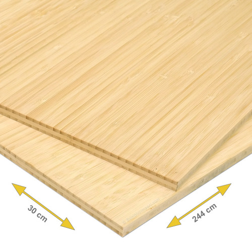 Bamboe plank 10 mm side pressed 3-laags naturel 244 x 30 cm