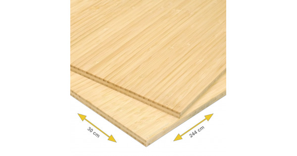 Bamboe plank mm side pressed laags naturel cm